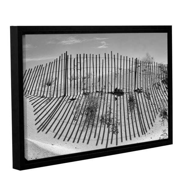 Scott Campbell 'Dune Builder BW' Gallery Wrapped Floater-framed Canvas