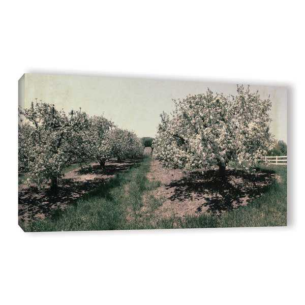 ArtWall Kevin Calkins 'Apple Orchard And Picket Fence' Gallery-Wrapped Canvas - Multi