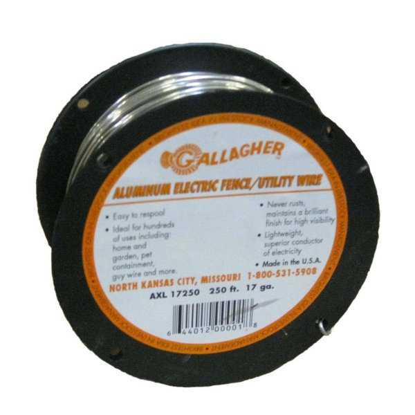 "GallagherA""¢ AXL17250 XL Aluminum Electric Fence/Utility Wire, 17-Gauge, 250'"
