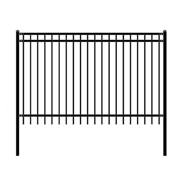 ALEKO Nice Style Self Unassembled Steel Fence 8' x 5' Black Lot of 4